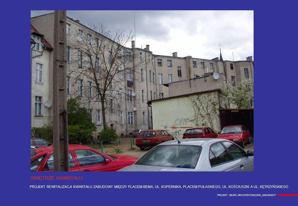 PROJEKT REWITALIZACJI KWARTAŁU ZABUDOWY MIĘDZY PLACEM BEMA, UL.