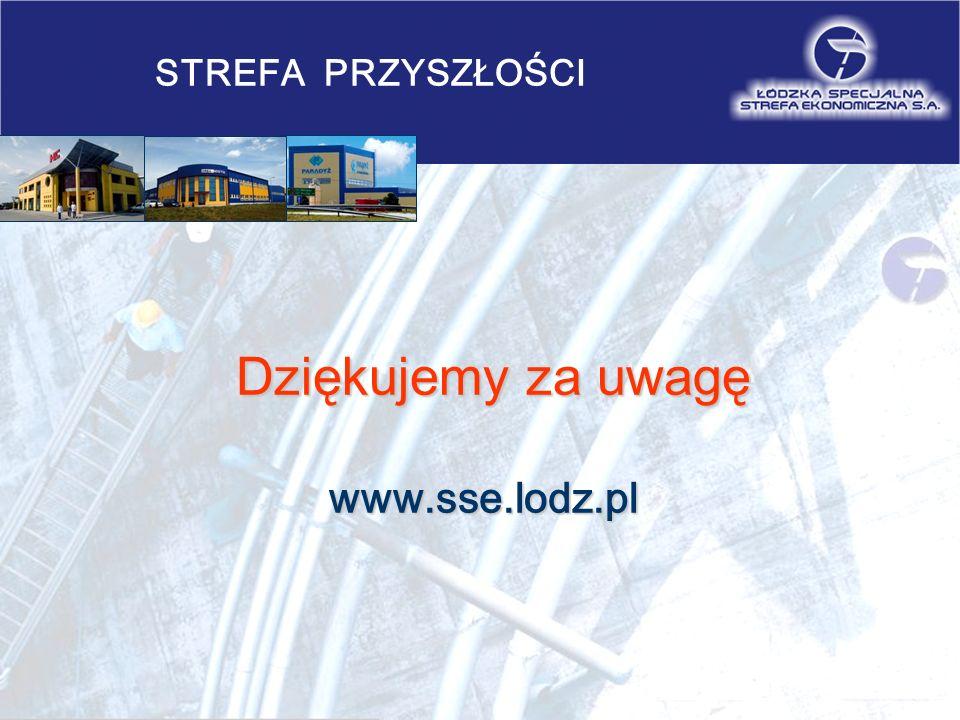 STREFA PRZYSZŁOŚCI Dziękujemy za uwagę Dziękujemy za uwagęwww.sse.lodz.pl