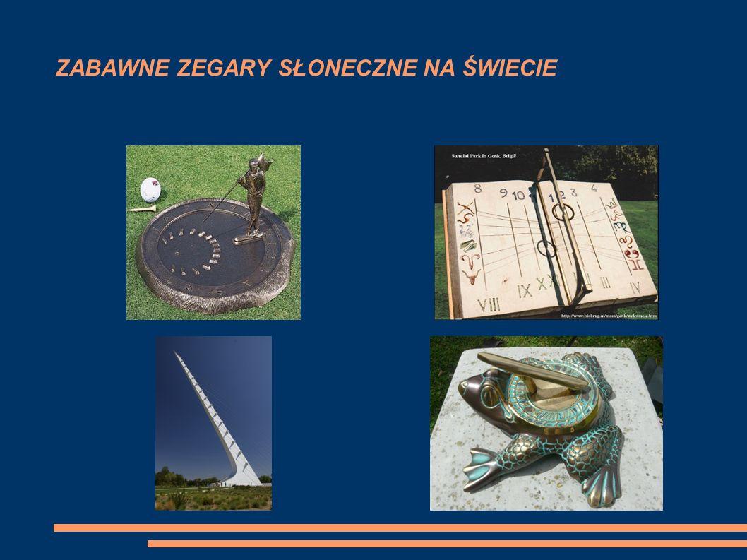 INNE PIĘKNE ZEGARY SŁONECZNE W POLSCE Pałac w Wilanowie Warszawa Stare Miasto Warszawa Kłodzko Kościół Mariacki w Krakowie