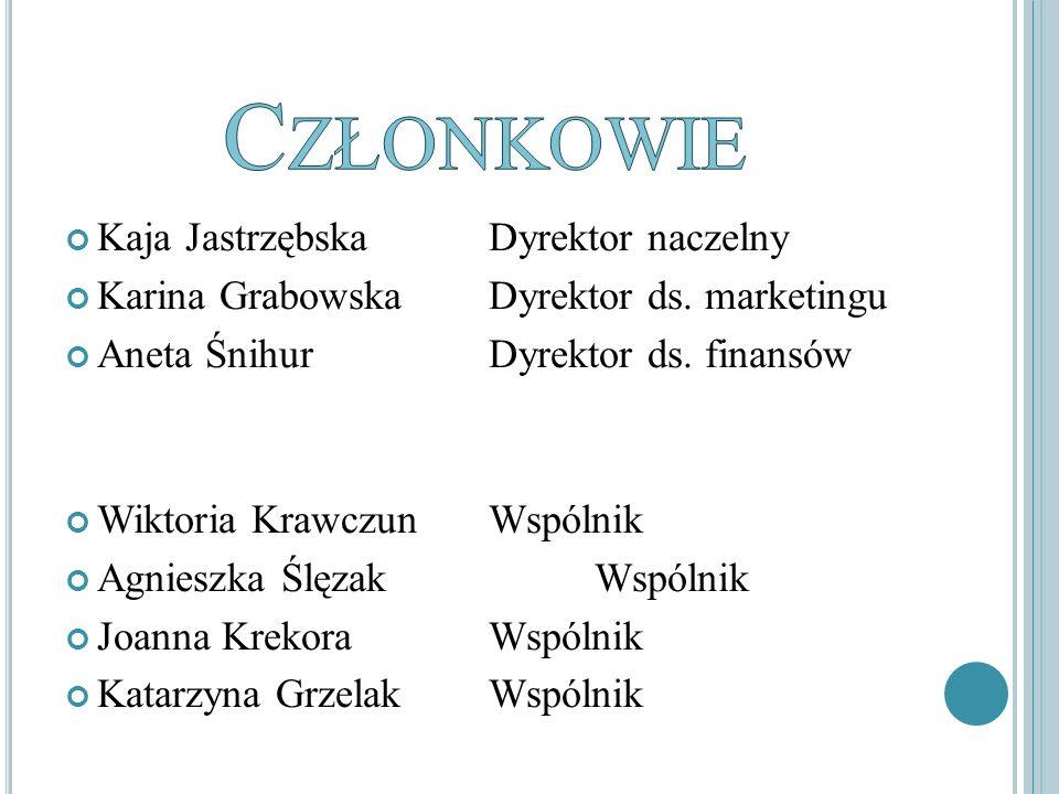 Kaja Jastrzębska Dyrektor naczelny Karina GrabowskaDyrektor ds.