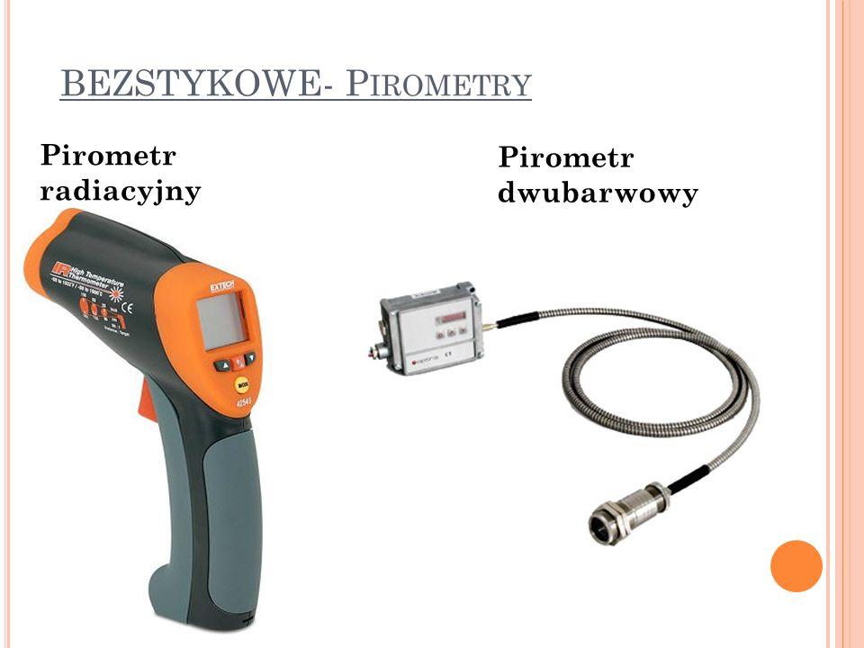 BEZSTYKOWE- P IROMETRY Pirometr radiacyjny Pirometr dwubarwowy