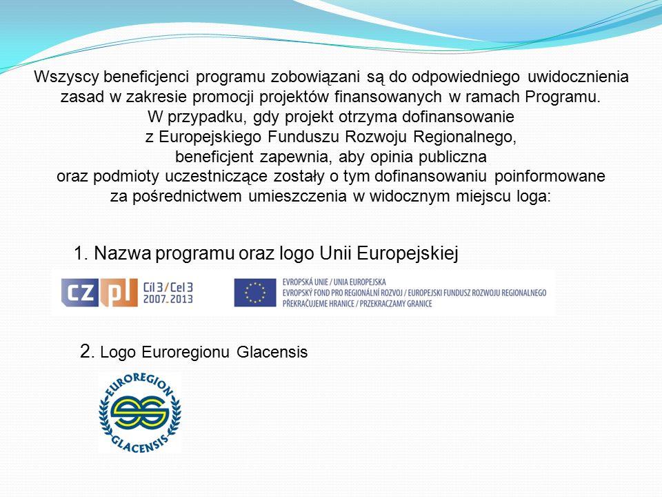 Wszyscy beneficjenci programu zobowiązani są do odpowiedniego uwidocznienia zasad w zakresie promocji projektów finansowanych w ramach Programu. W prz