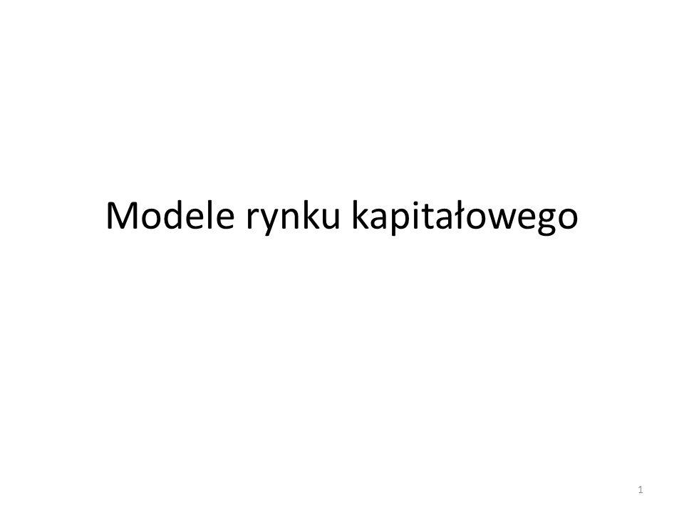 Modele rynku kapitałowego 1