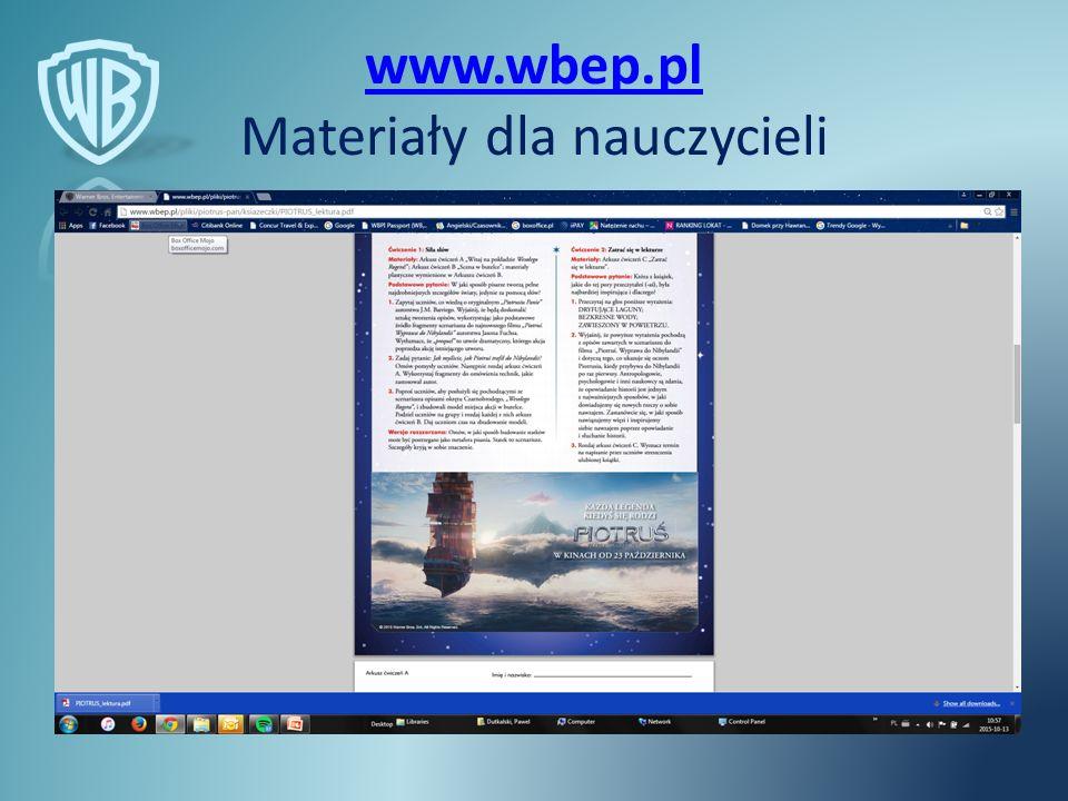 www.wbep.pl www.wbep.pl Materiały dla nauczycieli