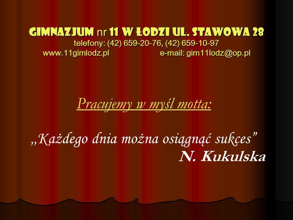 GIMNAZJUM nr 11 w Łodzi ul.