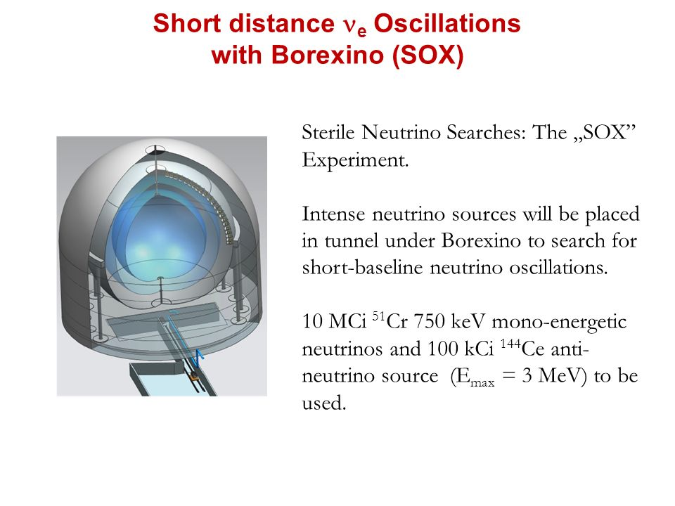 "Short distance e Oscillations with Borexino (SOX) Sterile Neutrino Searches: The ""SOX Experiment."