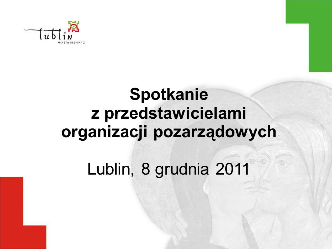 Spotkanie z przedstawicielami organizacji pozarządowych Lublin, 8 grudnia 2011