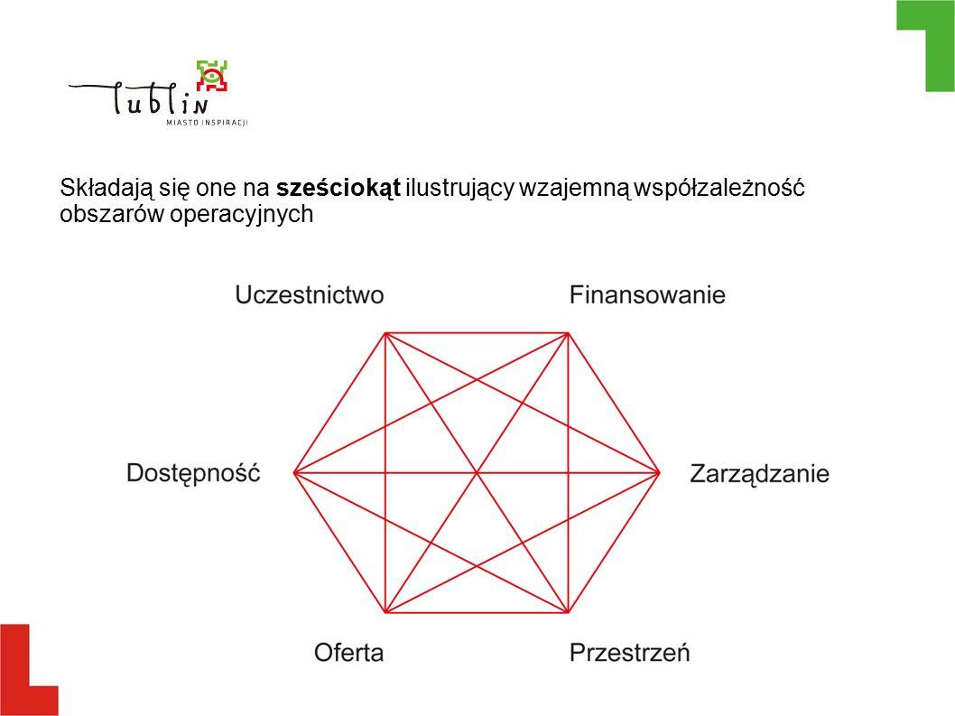 Składają się one na sześciokąt ilustrujący wzajemną współzależność obszarów operacyjnych