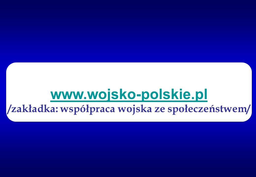 www.wojsko-polskie.pl /zakładka: współpraca wojska ze społeczeństwem/