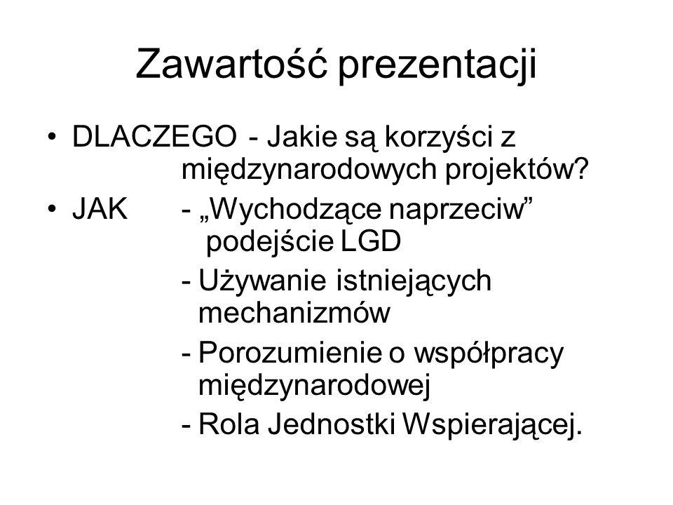 Zawartość prezentacji DLACZEGO - Jakie są korzyści z międzynarodowych projektów.