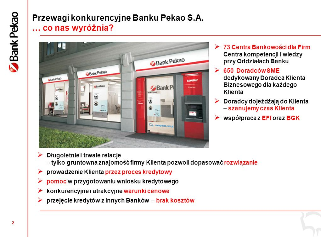 2 Przewagi konkurencyjne Banku Pekao S.A. … co nas wyróżnia.