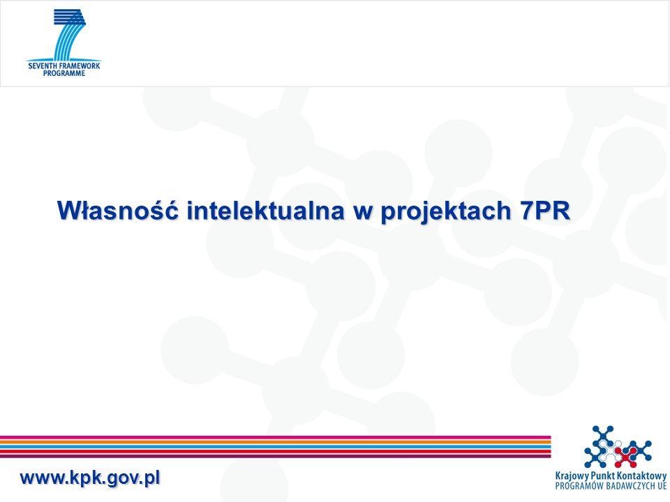 www.kpk.gov.pl Definicje Nowa Wiedza – wyniki projektu, w tym wszelkie informacje, niezależnie od tego czy mogą być objęte ochroną, czy nie.