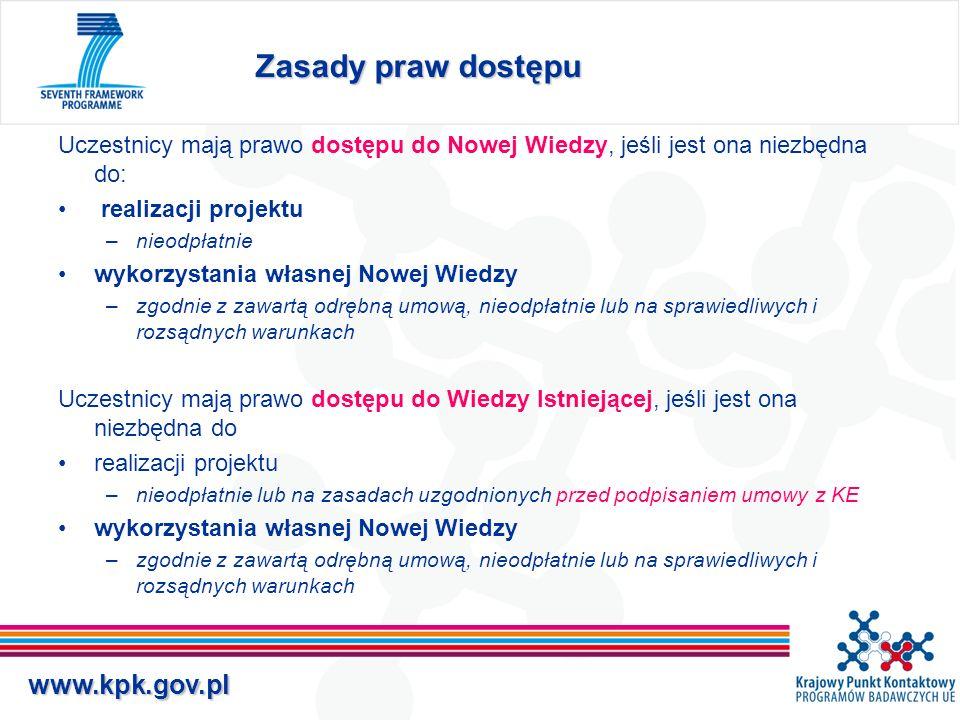 www.kpk.gov.pl Prawa dostępu c.d.