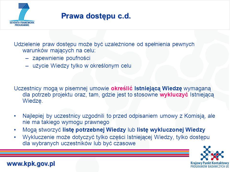 www.kpk.gov.pl Ochrona Upowszechnianie Jeżeli Nowa Wiedza może mieć zastosowanie przemysłowe lub handlowe, jej właściciel zobowiązany jest zapewnić jej odpowiednią i skuteczną ochronę.