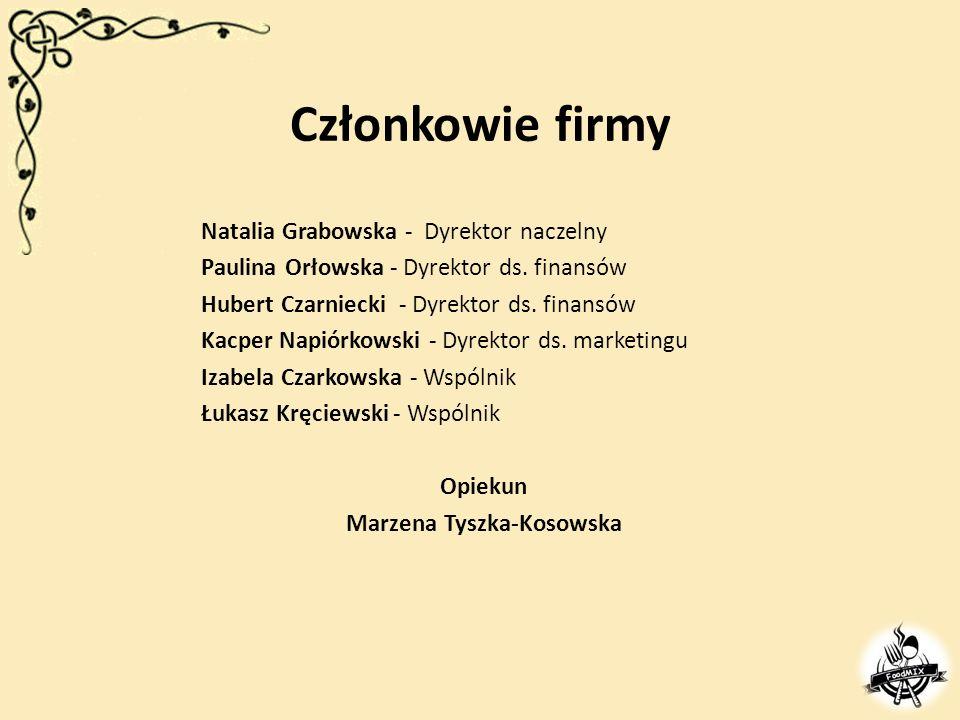 Członkowie firmy Natalia Grabowska - Dyrektor naczelny Paulina Orłowska - Dyrektor ds.