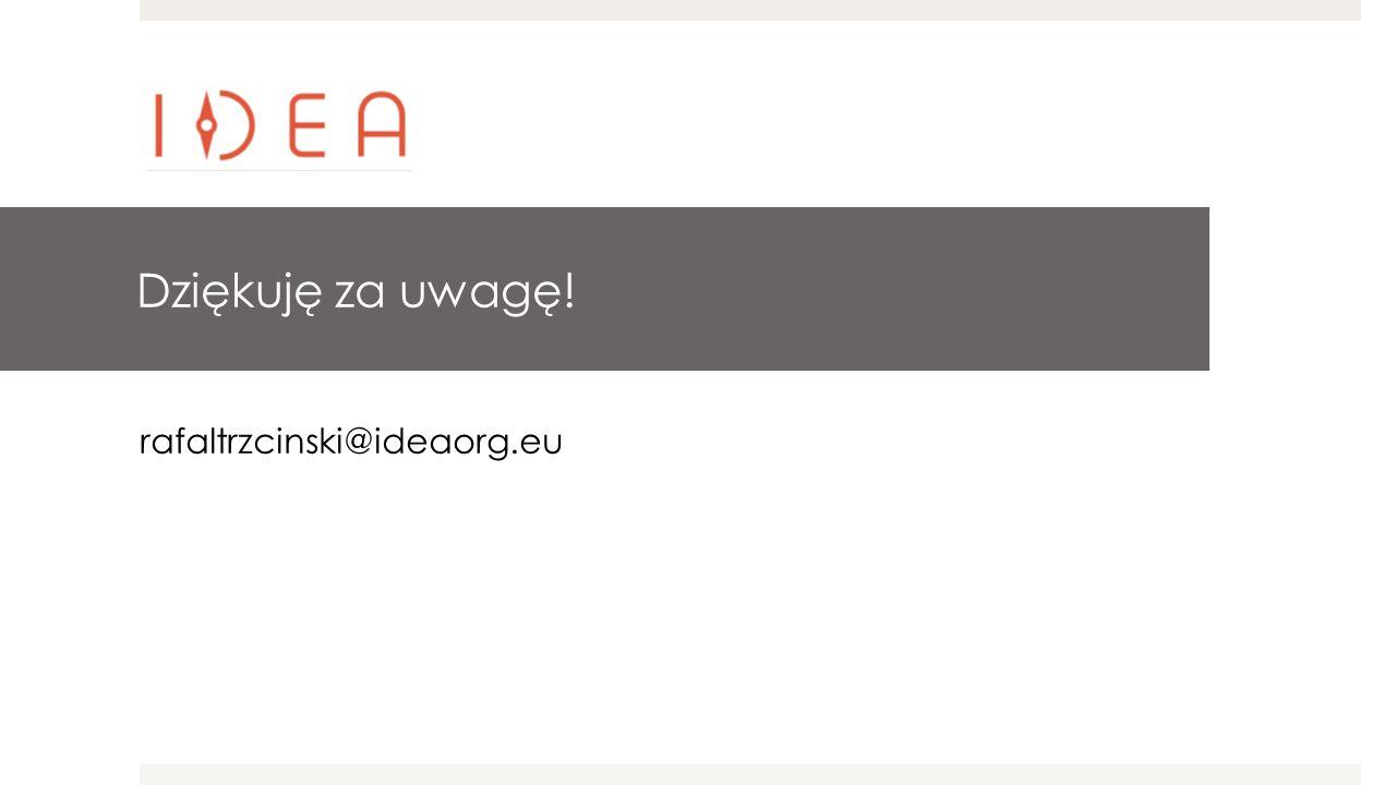 Dziękuję za uwagę! rafaltrzcinski@ideaorg.eu