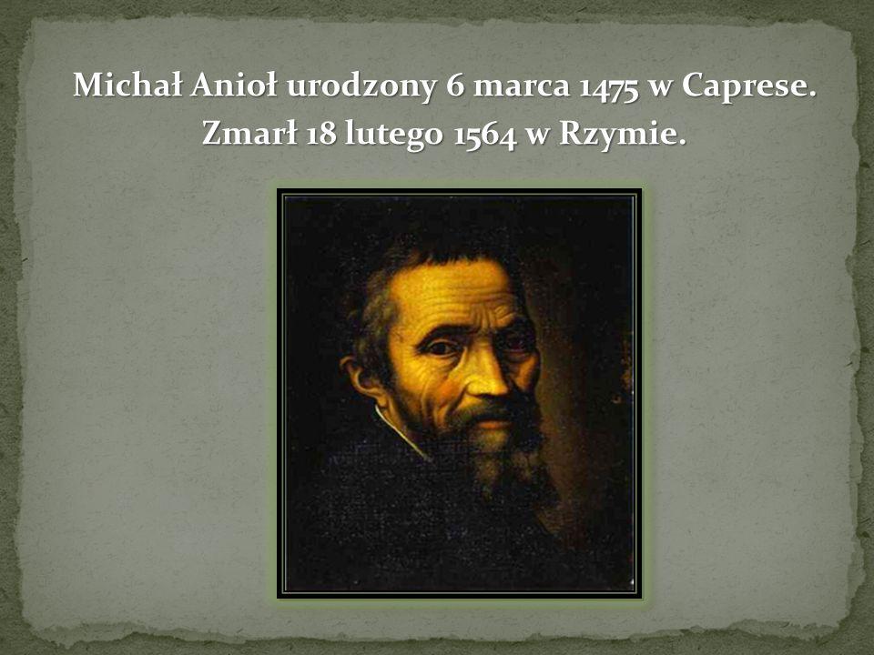 Włoski malarz, rzeźbiarz, rysownik, architekt i poeta.