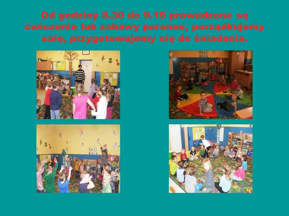 Od godziny 9.15 do 9.45 przedszkolaki zjadają śniadanie.