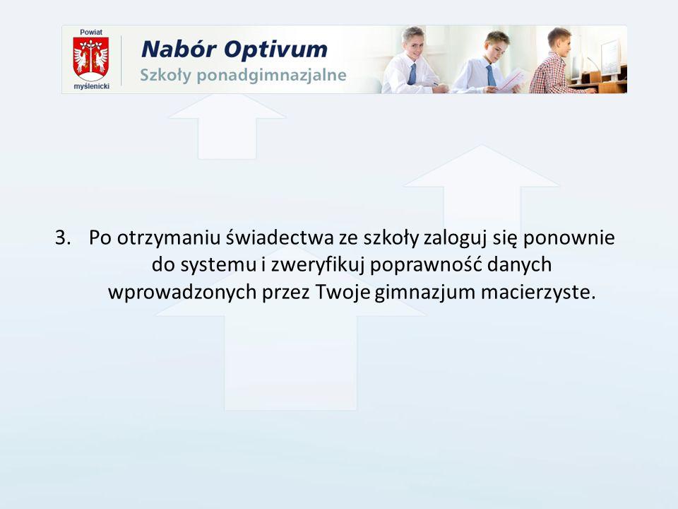 Elektroniczny system działa według następujących zasad: kandydat otrzymuje miejsce tylko w jednym oddziale, usytuowanym najwyżej w jego hierarchii, do którego wygrał konkurencję z innymi kandydatami.