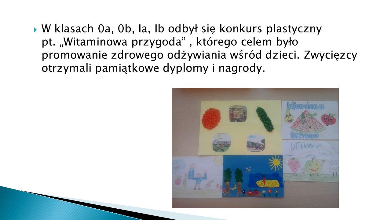  W klasach 0a, 0b, Ia, Ib odbył się konkurs plastyczny pt.