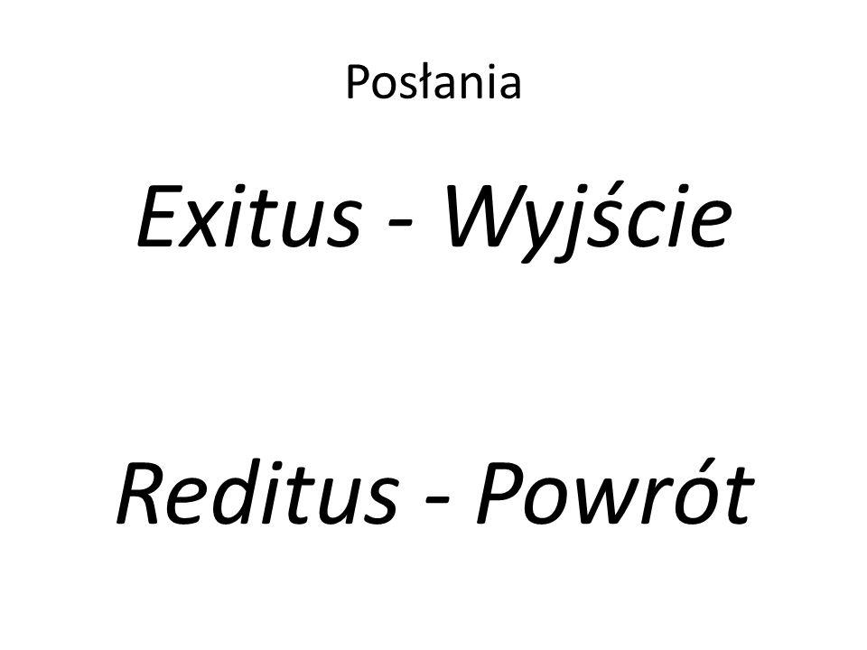 Posłania Exitus - Wyjście Reditus - Powrót