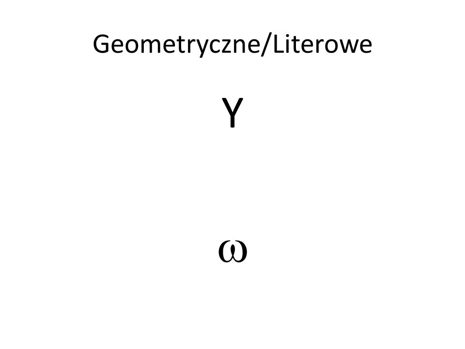 Geometryczne/Literowe YY