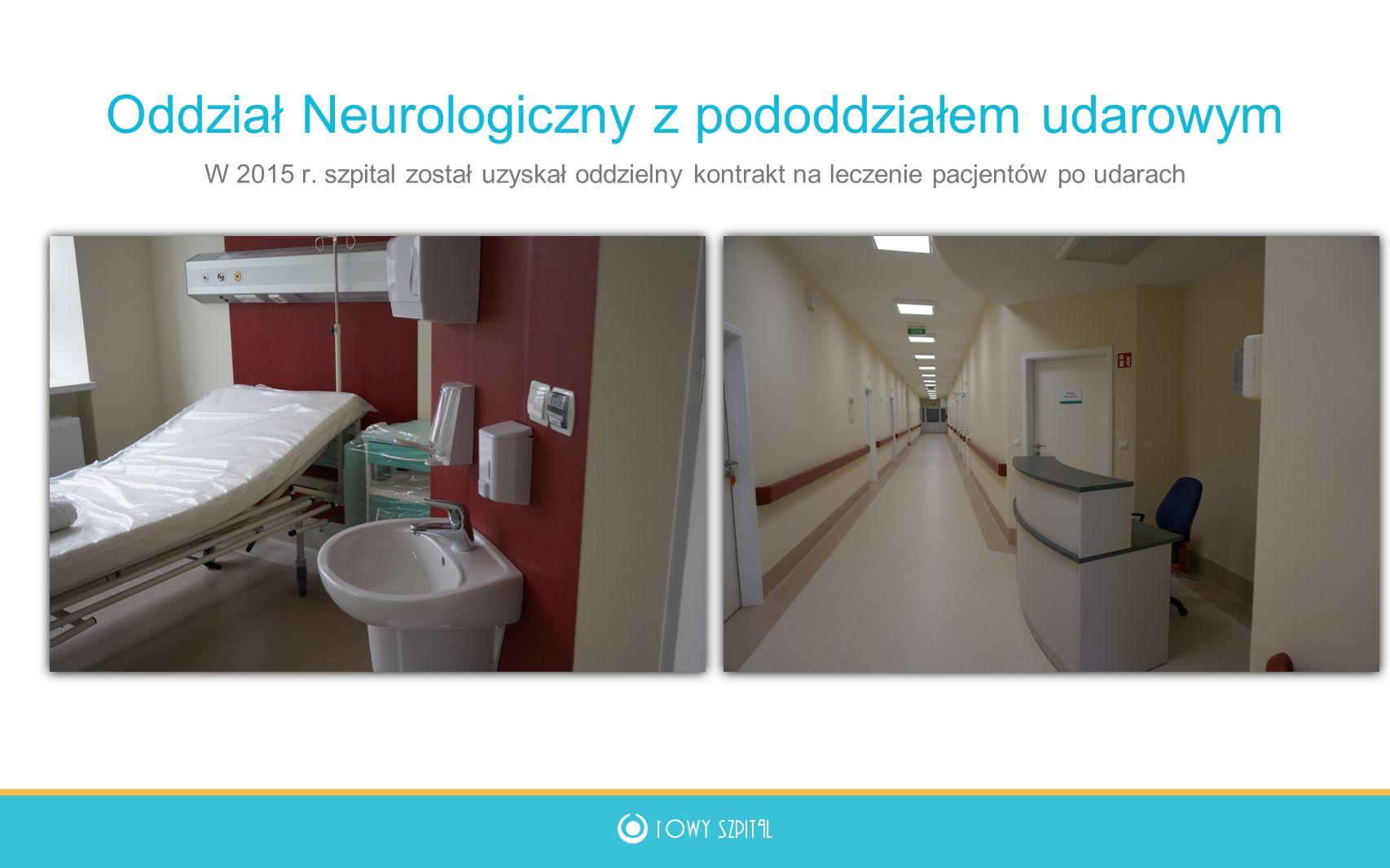Nowe poradnie specjalistyczne Od 2011 utworzono poradnie: schorzeń sutka, konsultacyjną dla noworodków reumatologiczną (Skalska), proktologiczną medycyny sportowej nefrologiczna gastroenterologiczna USG Doppler-Duplex pracownia EEG badania kandydatów na kierowców psychologiczna nocną i świąteczną pomoc lekarską 2010 13 poradni 2015 25 poradni W 2011 r.