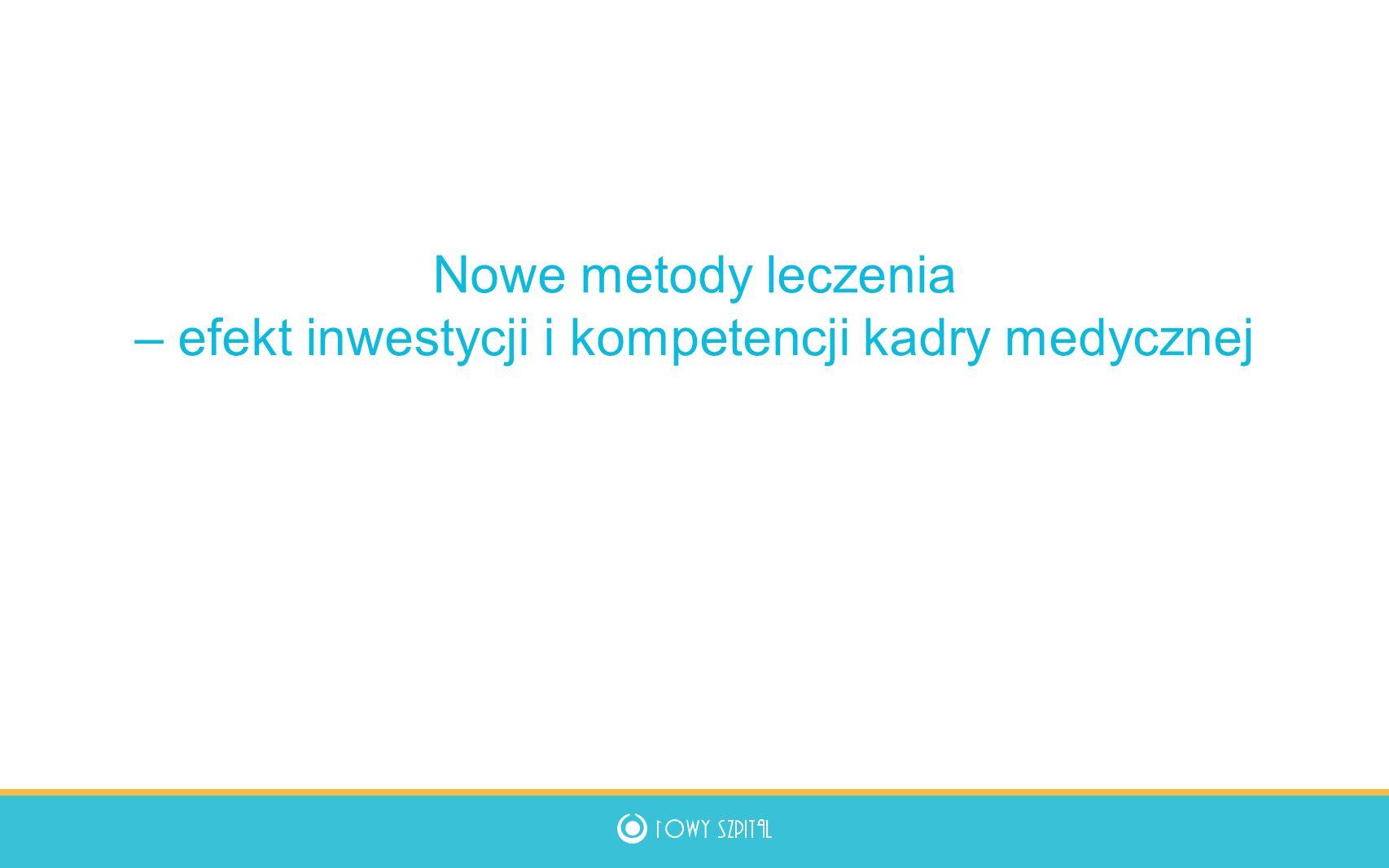 Nowe metody leczenia – efekt inwestycji i kompetencji kadry medycznej