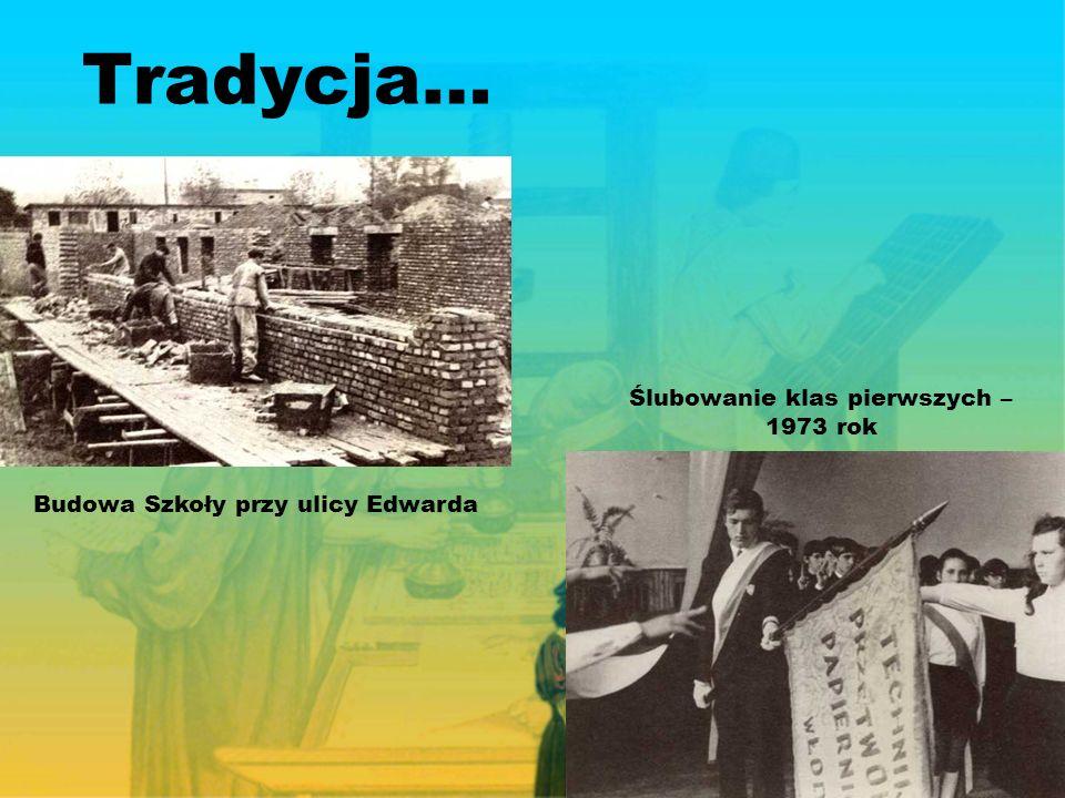 Tradycja… Budowa Szkoły przy ulicy Edwarda Ślubowanie klas pierwszych – 1973 rok