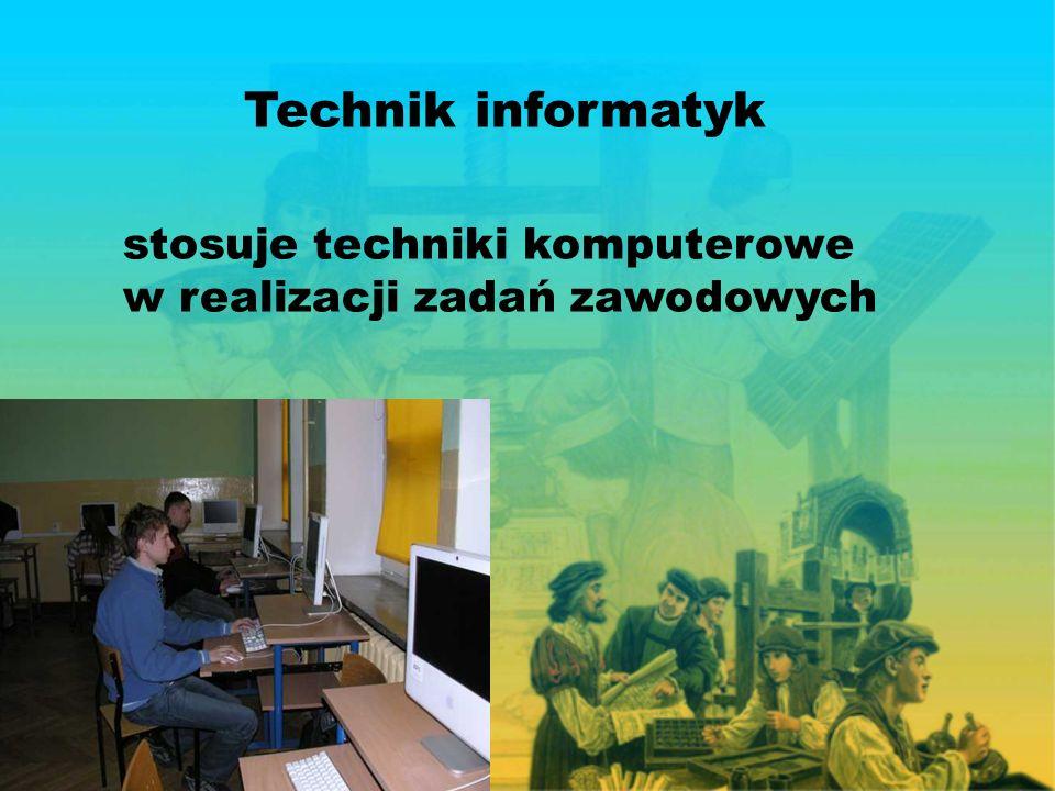 Technik informatyk stosuje techniki komputerowe w realizacji zadań zawodowych