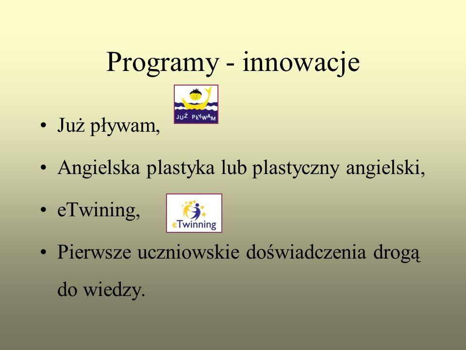 Programy - innowacje Już pływam, Angielska plastyka lub plastyczny angielski, eTwining, Pierwsze uczniowskie doświadczenia drogą do wiedzy.