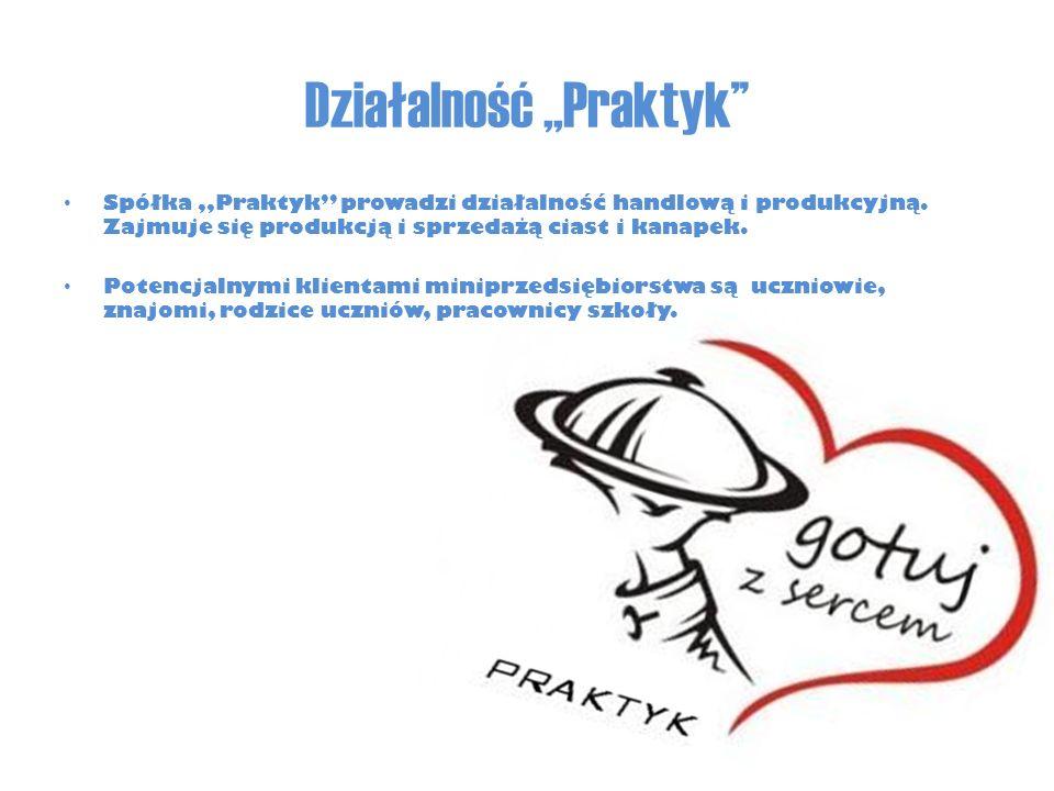 """Działalność,,Praktyk'' Spółka """"Praktyk prowadzi działalność handlową i produkcyjną."""