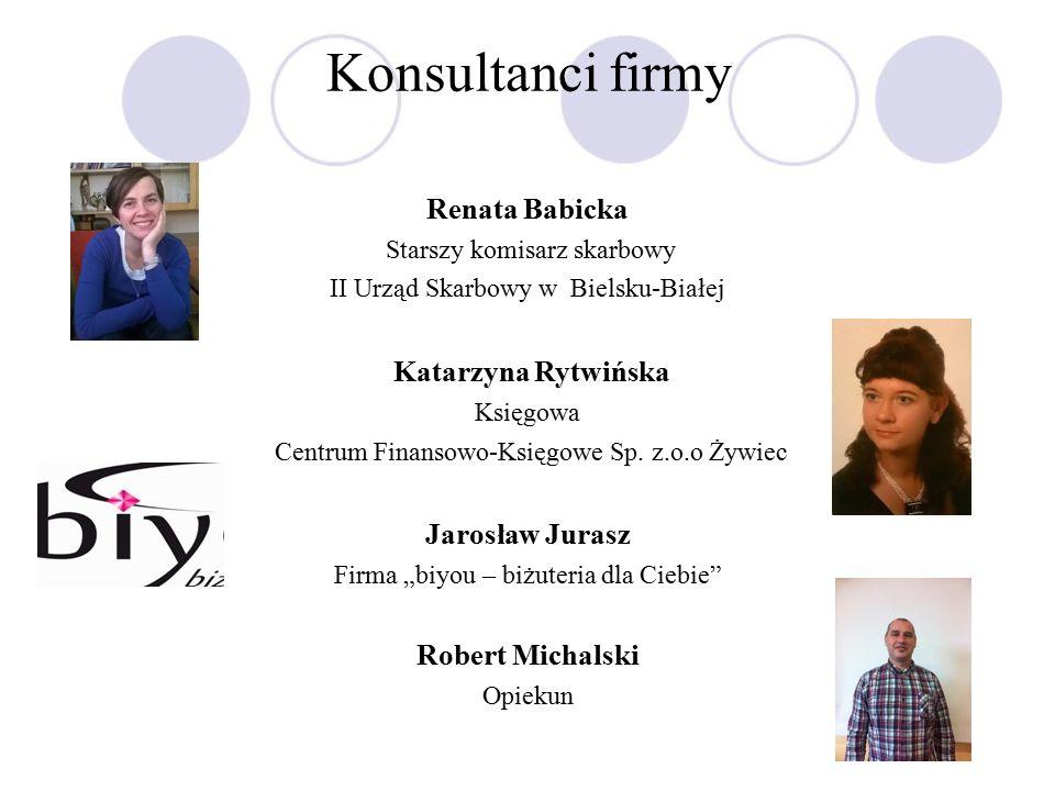 Konsultanci firmy Renata Babicka Starszy komisarz skarbowy II Urząd Skarbowy w Bielsku-Białej Katarzyna Rytwińska Księgowa Centrum Finansowo-Księgowe Sp.