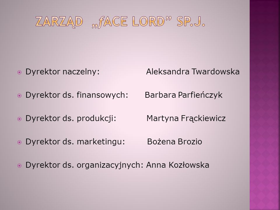  Dyrektor naczelny: Aleksandra Twardowska  Dyrektor ds.