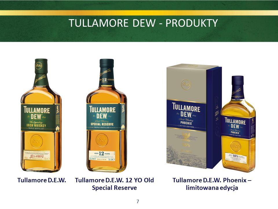 7 TULLAMORE DEW - PRODUKTY Tullamore D.E.W. Tullamore D.E.W. 12 YO Old Special Reserve Tullamore D.E.W. Phoenix – limitowana edycja