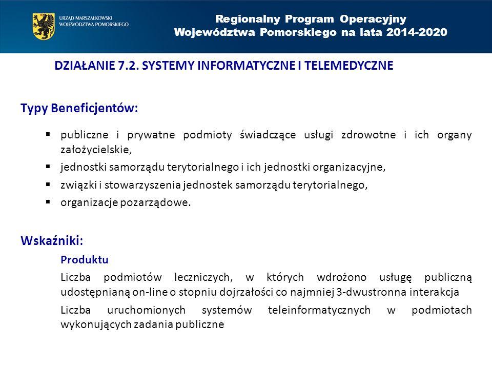 Typy Beneficjentów:  publiczne i prywatne podmioty świadczące usługi zdrowotne i ich organy założycielskie,  jednostki samorządu terytorialnego i ic