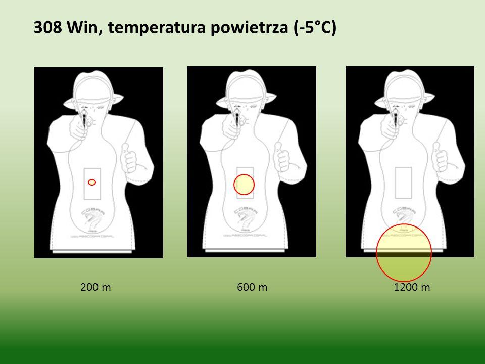 200 m 600 m 1200 m 308 Win, temperatura powietrza (-5°C)