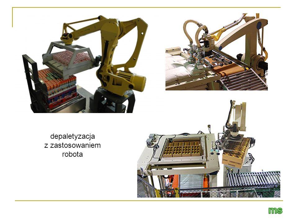 depaletyzacja z zastosowaniem robota