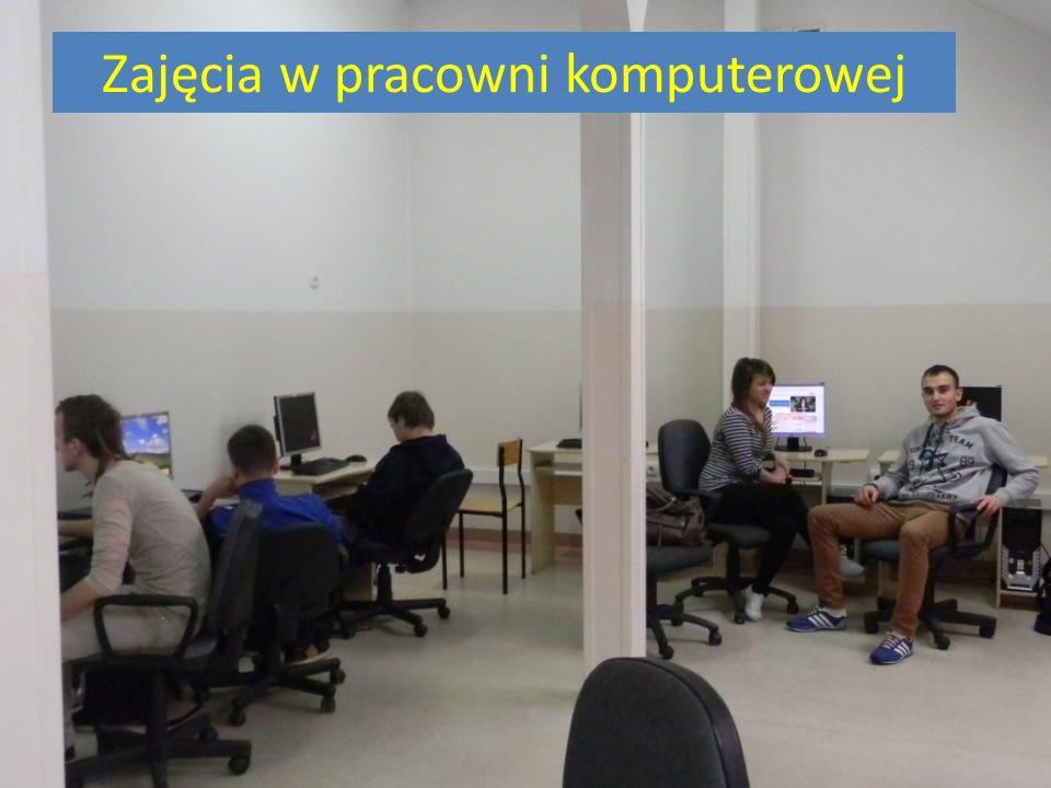 Zajęcia w pracowni komputerowej