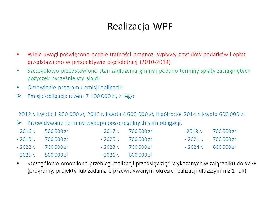 Realizacja WPF Wiele uwagi poświęcono ocenie trafności prognoz.