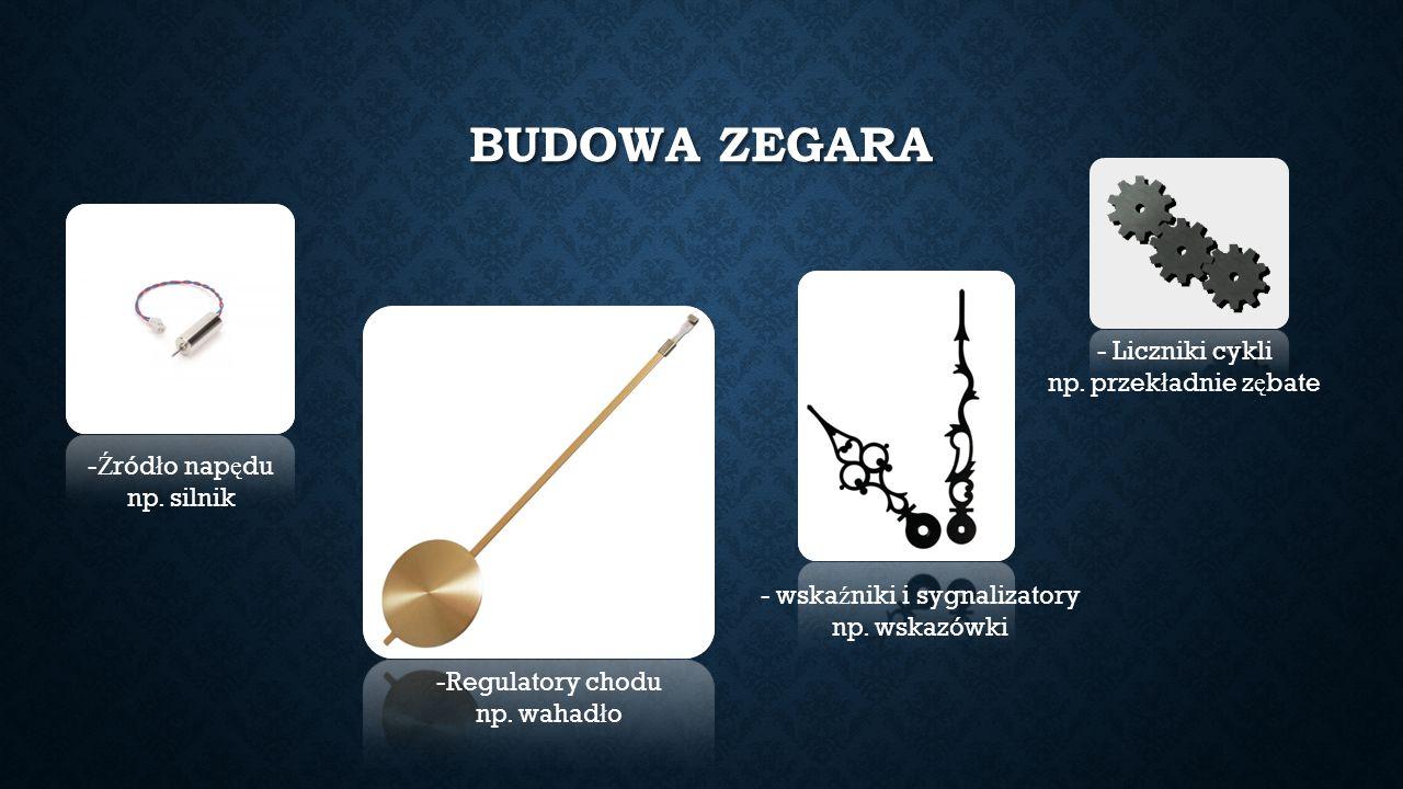 BUDOWA ZEGARA - Ź ród ł o nap ę du np.silnik - Liczniki cykli np.