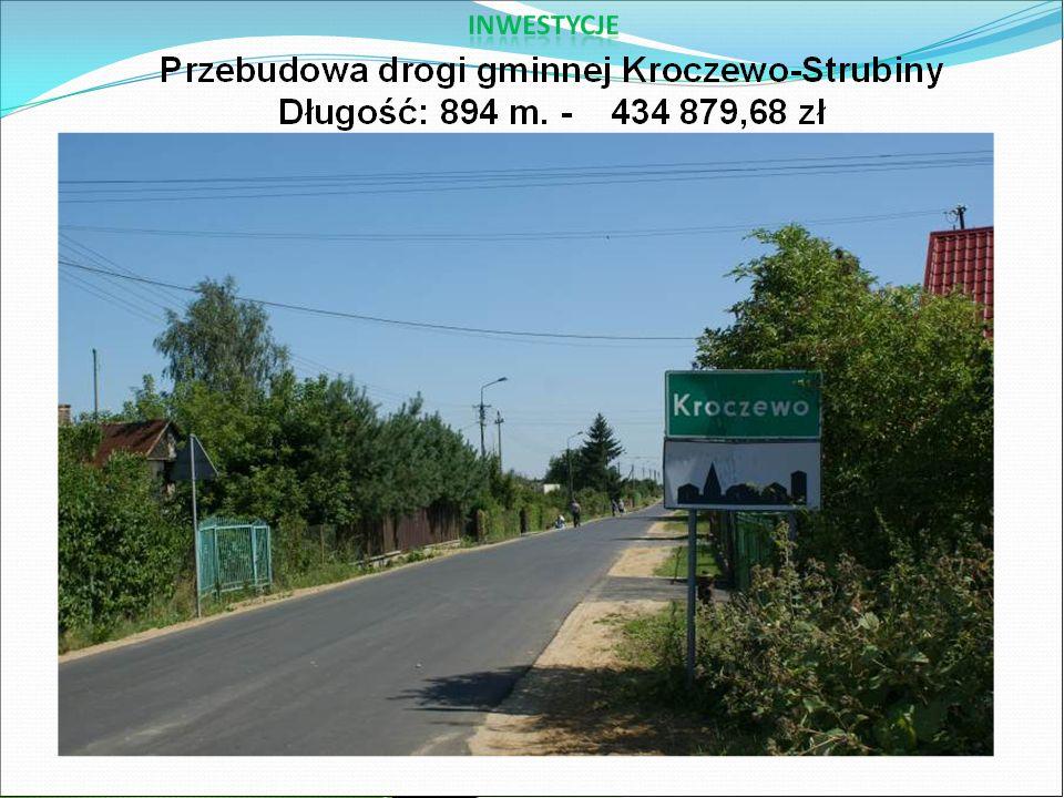  Ustawiono wiaty przystankowe we wsi Kamienica i Złotopolice (2 szt.) Koszt 10 000,00 zł.