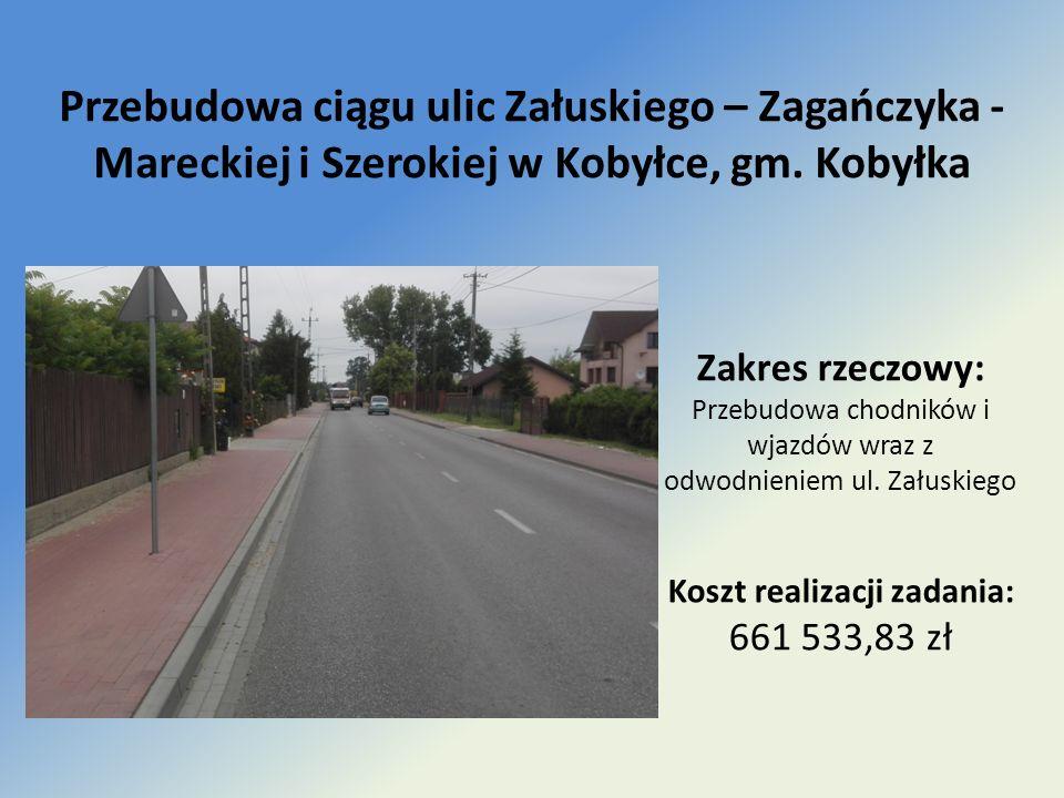 Przebudowa ciągu ulic Załuskiego – Zagańczyka - Mareckiej i Szerokiej w Kobyłce, gm.