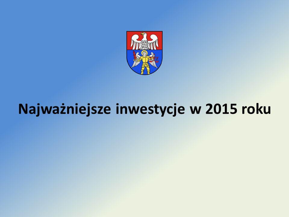 Najważniejsze inwestycje w 2015 roku