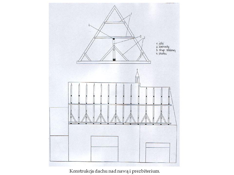 Przykościelna dzwonnica pochodzi prawdopodobnie z czasów istnienia poprzedniego kościoła.