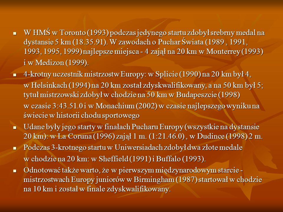 Osi ą gni ę cia 1-krotny reprezentant Polski w meczach międzypaństwowych (1990), 1-krotny reprezentant Polski w meczach międzypaństwowych (1990), 2-kr