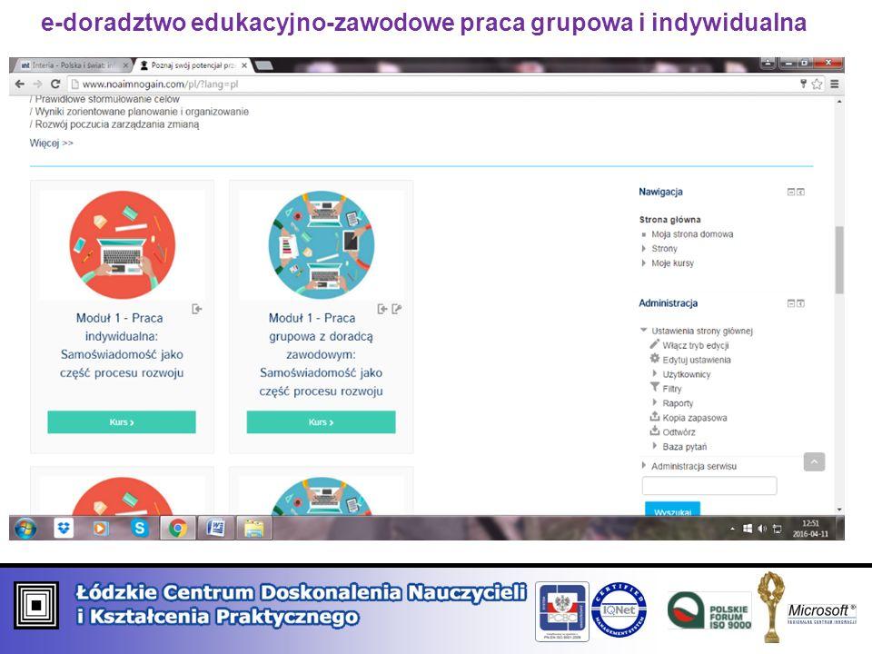 e-doradztwo edukacyjno-zawodowe praca grupowa i indywidualna