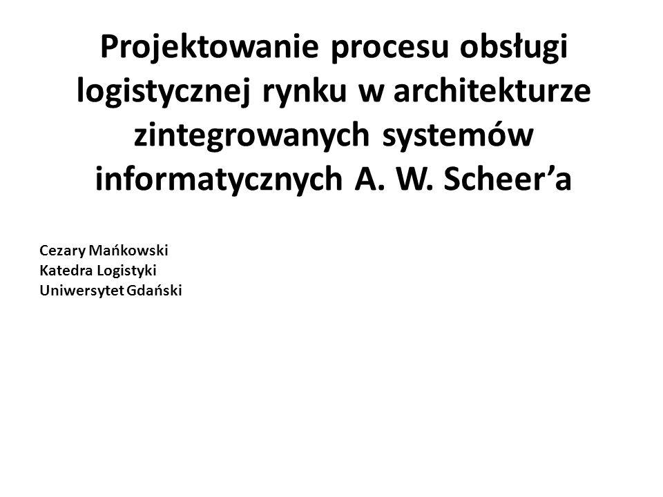 Projektowanie procesu obsługi logistycznej rynku w architekturze zintegrowanych systemów informatycznych A.