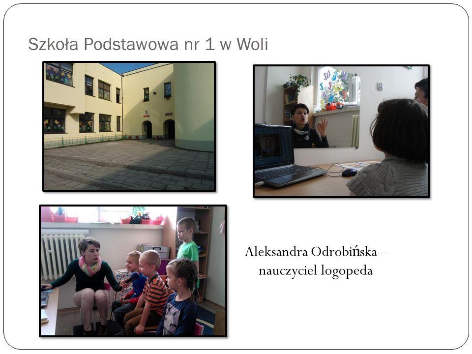 Szkoła Podstawowa nr 1 w Woli Aleksandra Odrobińska – nauczyciel logopeda