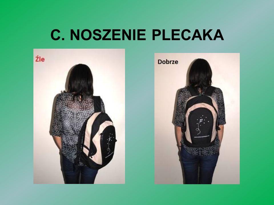 C. NOSZENIE PLECAKA